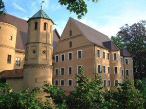 Das Wertinger Schloss. Es ist Sitz der Verwaltungsgemeinschaft Wertingen und beherbergt das Heimatmuseum.